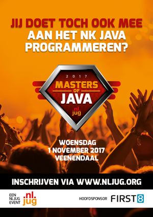 De inschrijving Masters of Java 2017 geopend